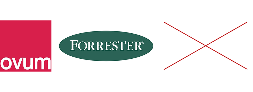 The main difference between Ovum, Forrester, and Gartner